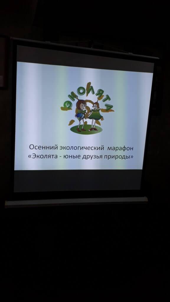 О результатах осеннего экологического марафона  «Эколята-юные друзья природы»